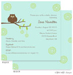 Take Note Designs Baby Shower Invitations - Green on Green Owl (TND-A2-0246)