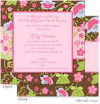 Take Note Designs Baby Shower Invitations - Fun Floral Vines (TND-A2-0807-shower)