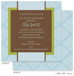 Take Note Designs Baby Shower Invitations - Blue Wallpaper with Green (TND-A2-0815)