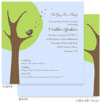 Take Note Designs Baby Shower Invitations - Cheeping Hearts Boy Modern Tree (TND-A2-9001)