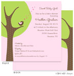 Take Note Designs Baby Shower Invitations - Cheeping Hearts Girl  Modern Tree (TND-A2-9002)