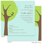 Take Note Designs Baby Shower Invitations - Cheeping Hearts Green Modern Tree (TND-A2-9003)