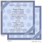 Take Note Designs Baby Shower Invitations - Blue Dots Ribbon Wrap (TND-A2-9004)