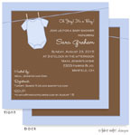 Take Note Designs Baby Shower Invitations - Blue Onesie (TND-A2-9017)