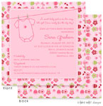 Take Note Designs Baby Shower Invitations - Flower Garden Onesie (TND-A2-9087)