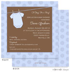 Take Note Designs Baby Shower Invitations - Blue Dots Onesie (TND-A2-9095)