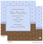 Take Note Designs Baby Shower Invitations - Dual Polka Pattern Boy (TND-A2-9098)