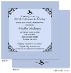 Take Note Designs Baby Shower Invitations - Blue Fancy Rocking Horse (TND-A2-9199)