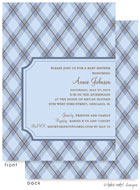 Take Note Designs Baby Shower Invitations - Blue Argyle (TND-A6981)
