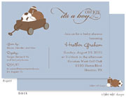 Take Note Designs Baby Shower Invitations - All Boy Baby Wagon (TND-A6982)