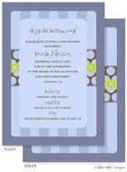 Take Note Designs Baby Shower Invitations - Boy Stripes and Dots (TND-A6988)