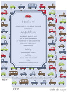 Take Note Designs Baby Shower Invitations - Boy Cars Baby Shower Tag (TND-A6989)