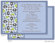 Take Note Designs Baby Shower Invitations - Animal Print Boy (TND-A7011)