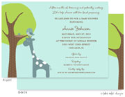 Take Note Designs Baby Shower Invitations - Giraffe Lift (TND-A7015)