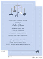 Take Note Designs Baby Shower Invitations - Boy Theme Mobile (TND-A7032)