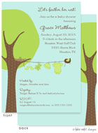 Take Note Designs Baby Shower Invitations - Boy or Girl Clothes Line (TND-A7139)