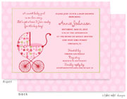 Take Note Designs Baby Shower Invitations - Floral Garden Stroller (TND-A7140)
