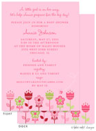 Take Note Designs Baby Shower Invitations - Growing Garden (TND-A7141)