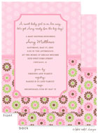 Take Note Designs Baby Shower Invitations - Floral and Polka (TND-A7145)