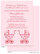 Take Note Designs Baby Shower Invitations - Flower Garden Twin Carriages (TND-A7152)