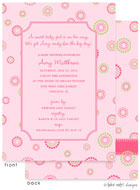 Take Note Designs Baby Shower Invitations - Fun Circle Dots (TND-A7159)