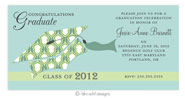 Take Note Designs - Tiffany and Lime Graduation Invitations (TND-A3-7810)