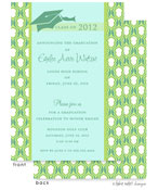 Take Note Designs - Tiffany and Lime Graduation Invitations (TND-A7800)