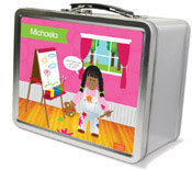Spark & Spark Lunch Box - Artist At Work (African-American Girl) (03-LC-1400-1-04)