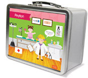 Spark & Spark Lunch Box - Doctor&#39;s Visit (Blonde Girl) (03-LC-1400-3-01)