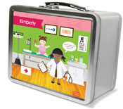 Spark & Spark Lunch Box - Doctor&#39;s Visit (African-American Girl) (03-LC-1400-3-04)