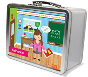 Spark & Spark Lunch Box - Learning Time (Brunette Girl) (03-LC-1400-4-02)