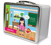 Spark & Spark Lunch Box - Learning Time (Black Hair Girl) (03-LC-1400-4-03)