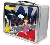 Spark & Spark Lunch Box - In The Spotlight (Brunette Girl) (03-LC-1400-6-02)