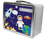 Spark & Spark Lunch Box - Fly To The Moon (Brunette Boy) (03-LC-1401-1-02)