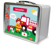 Spark & Spark Lunch Box - Call A Firefighter (Brunette Boy) (03-LC-1401-2-02)