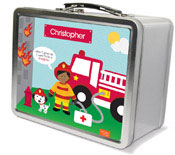 Spark & Spark Lunch Box - Call A Firefighter (African-American Boy) (03-LC-1401-2-04)