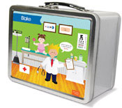 Spark & Spark Lunch Box - Doctor&#39;s Visit (Blonde Boy) (03-LC-1401-3-01)
