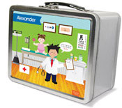 Spark & Spark Lunch Box - Doctor&#39;s Visit (Black Hair Boy) (03-LC-1401-3-03)
