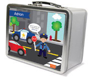 Spark & Spark Lunch Box - Police On Duty (Brunette Boy) (03-LC-1401-4-02)