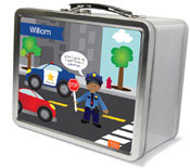 Spark & Spark Lunch Box - Police On Duty (African-American Boy) (03-LC-1401-4-04)