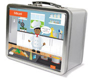 Spark & Spark Lunch Box - A Chef&#39;s Taste (African-American Boy) (03-LC-1401-5-04)