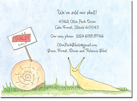 Blue Mug Designs Moving Cards - Snail On The Move