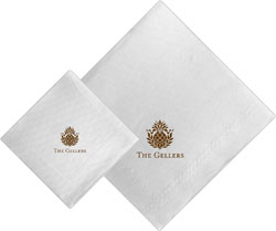 Boatman Geller - Linen-Like Personalized Beverage and Dinner Napkins (Pineapple)