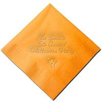 Classic Impressions - Embossed 3-ply Beverage/Luncheon Napkins (Halloween Cat)