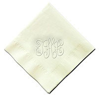 Classic Impressions - Embossed 3-ply Beverage/Luncheon Napkins (Script Monogram - RT14A-RT14B)