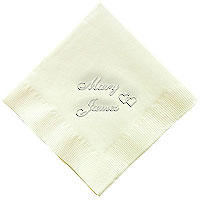 Classic Impressions - Embossed 3-ply Beverage/Luncheon Napkins (Locking Heart)