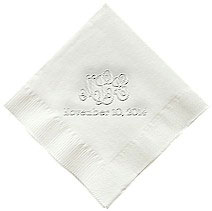 Classic Impressions - Embossed 3-ply Beverage/Luncheon Napkins (Wedding)