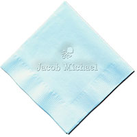 Classic Impressions - Embossed 3-ply Beverage/Luncheon Napkins (Baby Rattle)