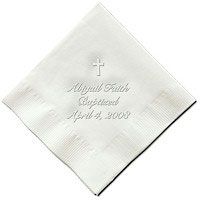 Classic Impressions - Embossed 3-ply Beverage/Luncheon Napkins (Cross)