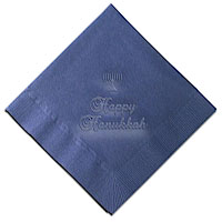 Classic Impressions - Embossed 3-ply Beverage/Luncheon Napkins (Menorah)